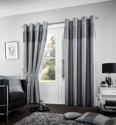 Zaftig Eyelet Room Darkening Curtains Red Barrel Studio Size: x Curtain Colour: Charcoal White Bedding, Linen Bedding, Gold Bedding, Turquoise Bedding, Plaid Bedding, Bed Linens, Colorful Curtains, Drapes Curtains, Decorative Curtains