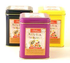 Children's Fruit & Herbal Loose Tea, 4-oz. in reusable gift tin, Bumblefruit Flavor - http://www.yourgourmetgifts.com/childrens-fruit-herbal-loose-tea-4-oz-in-reusable-gift-tin-bumblefruit-flavor/