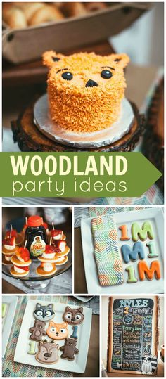 How about celebrating a first birthday with a woodland party! See more party ideas at CatchMyParty.com!
