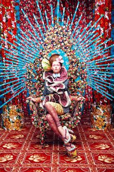 The intensely colorful fashion photography of Tejal Patni (The set/background makes for good home decor inspiration, too. Foto Fashion, Fashion Art, Editorial Fashion, Fashion Design, Dress Fashion, Indian Fashion, Fashion Poses, Vogue Fashion, 80s Fashion