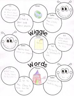 2nd and 3rdTotally Terrific in Texas: Wiggle Words-so cute for a center choice.