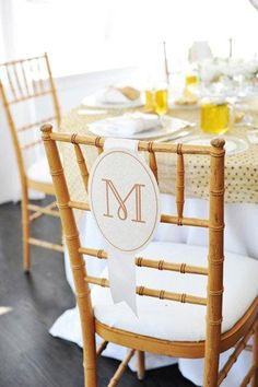 Love the chair monograms