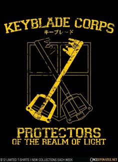 Keyblade Corps by Alecxps is available this week only as a T-Shirt, Hoodie, Phone Case, and more! Available until 6/29 at OnceUponaTee.net starting at $12! #KingdomHearts #Gaming #VideoGames