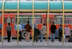 TURKEY. Istanbul. 1998. Bus stop at Kadikoy, Asian district of Istanbul. Harry…