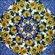 Original Kaleidoscope No Sew Fabric Art By Sara Elizabeth