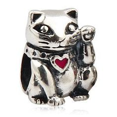 Free shipping, $13.46/Piece:buy wholesale  Fashion Cpw Jewelry Free Shipping Lucky Cat 925 Sterling Silver Animal Beads Fit Pandora Charms BraceletRound Shape,Nana Jewelry,Charms on mkfstore's Store from DHgate.com, get worldwide delivery and buyer protection service.