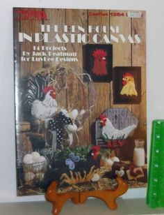 Plastic Canvas Crafts 1991 Needlepoint Pattern Leaflet #1354 The Hen House