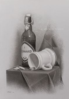 Still Life Pencil Shading, Still Life Drawing, Painting Still Life, Still Life Art, 3d Pencil Drawings, Realistic Drawings, Art Drawings Sketches, Ballpoint Pen Art, Object Drawing