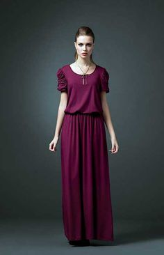 Vestidos de Malha Longos