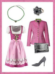Pink ist deine Lieblingsfarbe? Dann gefällt dir der Look bestimmtsuper.Der Vorteil an dem Styling: Durch den Trachtenjanker und dienicht-pinkenAccessoires sieht man nicht aus wie eine Barbie.