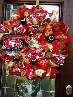San Francisco 49ers Wreath 49ers Wreath San by UniqueWreathDesign