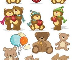 Cartoon bears vector