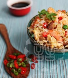 Special Fried Rice.  The recipe - Ching-He Huang Chinese Cooking (Feel free to empty your crisper drawer into the wok: we like sweet bell peppers and peas. Cubed ham adds protein.)