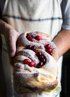 Cranberry swirl bread is an attractive addition to any Christmas table!