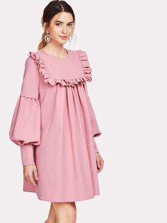 Purple Fashion, Bishop Sleeve, Dress P, Dressmaking, Wide Leg Pants, Types Of Sleeves, Lanterns, Short Dresses, Cold Shoulder Dress