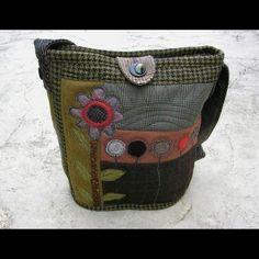 Felted wool purse by lydia dierwechter
