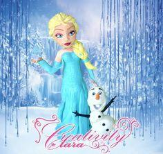 Tutorial Elsa Frozen cake topper in porcellana fredda per torte in pasta...
