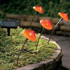 Solar Mushroom Pathway Lights