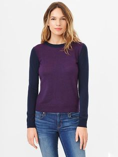 Colourblock Merino Sweater | Gap  Probably good for weekends? I have a dearth of casual clothes at the moment.