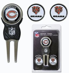 Chicago Bears Golf Divot Tool with 3 Markers Z157-3755630545