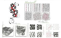 Heartswell filled with Jonqal Easy Zentangle Patterns, Zen Art, Zentangles, Step By Step Instructions, Inktober, Tangled, Lime, Doodles, Tutorials