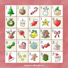 Cake Templates, Advent Calenders, Cookie Decorating, Christmas Cookies, Christmas Time, Vector Free, Bullet Journal, Clip Art, Holiday Decor