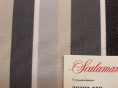 "PRODUCT TYPE :  FABRIC  MANUFACTURER: Scalamandre  PATTERN: 36322 - 001, 002  NAME:	Luau Woven #Stripe    COLOR:  001 -Blues, Taupes & Ivory - 3 PIECES - 12"" x 14"" -... #fabric #supplies #scalamandre #silk #italy #light #gold #brown #stripe #striped #luau #grey"