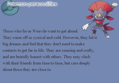 Pokemon personality thing | Pokémon Online
