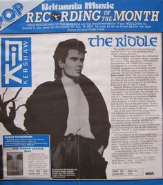 An old article on The Riddle album maybe?