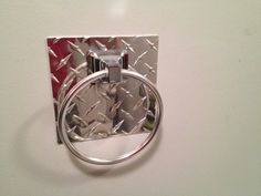 Diamond plate Towel Ring on Etsy, $29.99