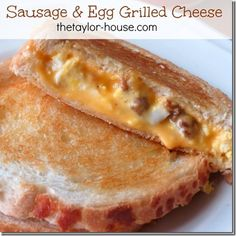 Sausage & egg grilled cheese - YUM YUM YUM