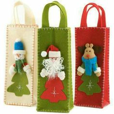 veja 90 ideias to decorate and present - Birthday FM : Home of Birtday Inspirations, Wishes, DIY, Music & Ideas Christmas Sewing, Christmas Bags, Noel Christmas, Christmas Projects, Christmas Stockings, Felt Crafts, Christmas Crafts, Christmas Ornaments, Snowman Crafts