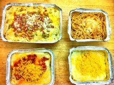 レシピとお料理がひらめくSnapDish - 18件のもぐもぐ - Rolled Lasagna in meaty red and Alfredo sauce, pasta arrabiatta and baked ala carbonara by caren meman