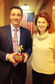 Chris Paradiso receiving his American Modern Insurance Group award for outstanding growth.     www.paradisoinsurance.com