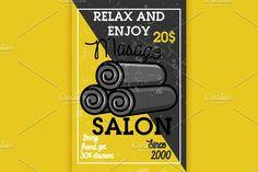 Color vintage massage salon banner by Netkoff on @creativemarket