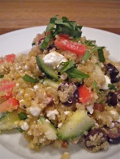 Quinoa salads are such a great summertime meal or side dish. They're really filling, healthy, and can be made to suit your flavor prefere. Quinoa Salad, Mediterranean Style, Side Dishes, Cactus, Salads, Meals, Healthy, Kitchen, Food