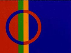 The Sami Flag. The Sami are the native people of Sweden. In the the Swedish government finally started to recognize the Sami people's rights. Lappland, Norway Design, Pencil Toppers, Samar, Ancestry, Nativity, Scandinavian, Religion, Clip Art