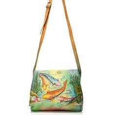 Anuschka hand painted bag - koi