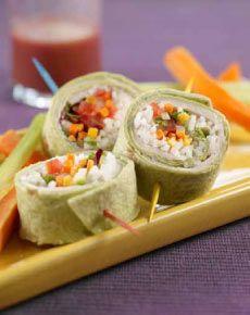 "Turkey Veggie ""Sushi"" - easy lunchbox meal"