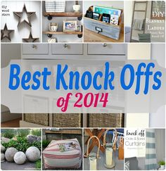 DIY Home Decor   What a year it's been on Knock Off Decor! Check out the top ten knock off projects of 2014!