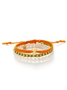 Tai Jewelry Set Of 3 Orange, Yellow, & White Bracelets