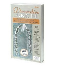 Shop Darice® White Lighted Decorative Arch & Wedding Day Accessories at Joann.com