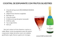 Refresh your summer with the best portuguese sparkling wines. #portulogia #recipe #cocktails