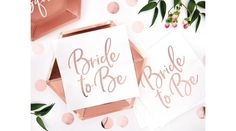 Rose gold bride to be szalvéta, Nicol Party Kellék Bolt Place Cards, Place Card Holders, Rose Gold, Bride, Wedding Bride, The Bride, Bridal