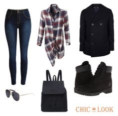 """@chiclookclo set"" by sabypolivore ❤ liked on Polyvore featuring LE3NO, GANT and Timberland"