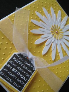 Happy Birthday Daisy and Tag Card via Etsy