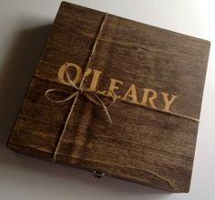 Groomsmen Gift  1 Rustic Keepsake Boxes  by MyPersonalizedGift