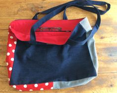 Black and white and red all over! Lined tote, 60 TL, 20 euros Your Boyfriend, Boyfriend Jeans, Black And White, Denim, Red, Black N White, Black White, Jeans