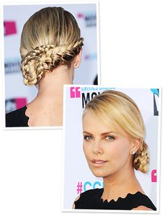 Charlize Theron's intricate braid