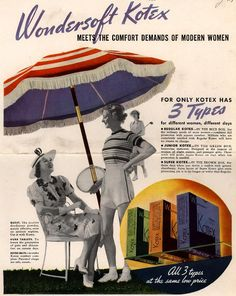 Wondersoft Kotex Meets the Comfort Demands Of Modern Women . From Duke Digital Collections. Collection: Ad*Access